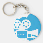 Old film camera Cloud Icon Vector Basic Round Button Key Ring