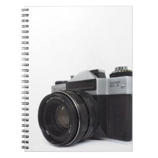 Old film camera spiral note book