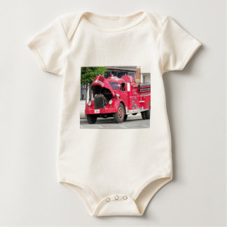 old fire engine photo baby bodysuits