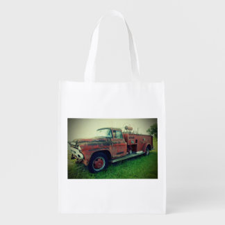 Old Fire Truck Reusable Grocery Bag