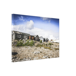 Old Fisherman s Huts Stretched Canvas Print