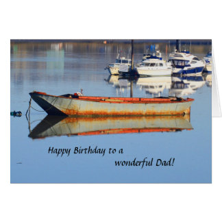 Old Fishing Boat Dad Birthday Card