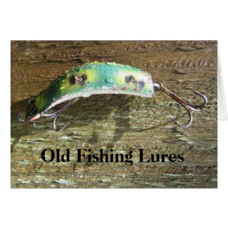 Old Fishing Lures Birthday Card