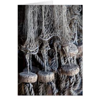 Old fishing net card