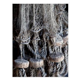 Old fishing net postcards
