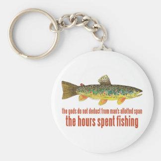 Old Fishing Saying Basic Round Button Key Ring