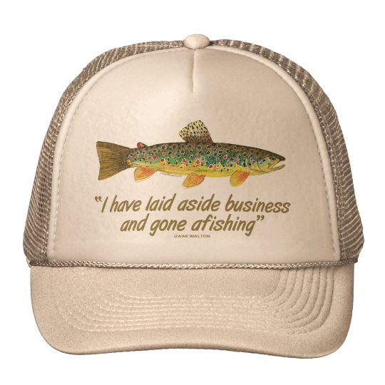 Old Fishing Words Cap