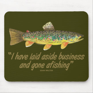 Old Fishing Words Mouse Pad