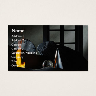 Old flame burning background business card