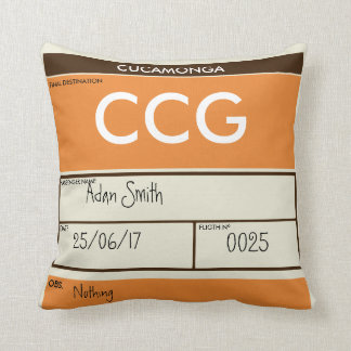 OLD FLIGHT TICKET CUSHION