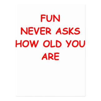 old folk postcard