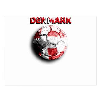 Old football Denmark Post Card