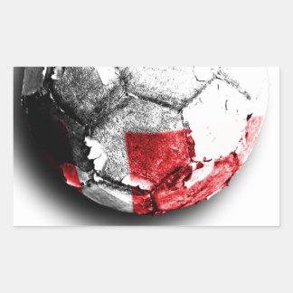 Old football (Denmark) Rectangular Sticker