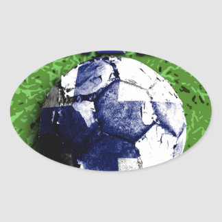 Old football (Finland) Oval Sticker