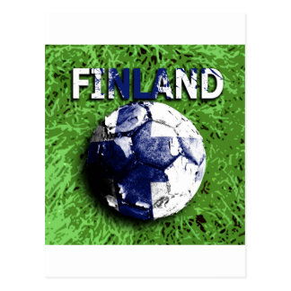 Old football Finland Post Card