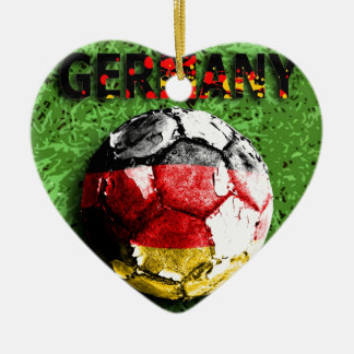 Old football (germany) christmas ornament