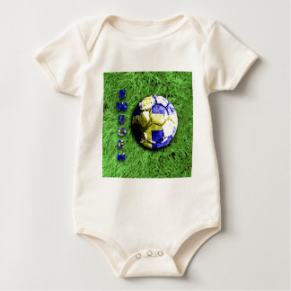 Old football  sweden baby bodysuit