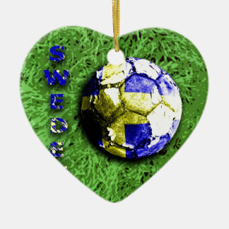 Old football  sweden christmas ornament