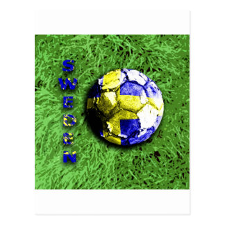 Old football sweden post card