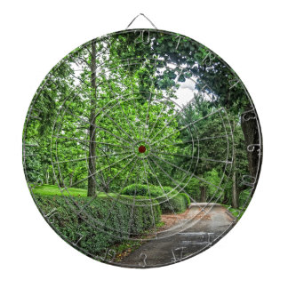 Old Forest Road Dartboard With Darts
