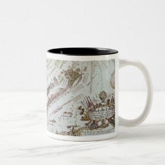 Old Fort Gaut, Calcutta, 1810 (litho) Two-Tone Coffee Mug