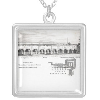 Old Fort William, Calcutta Silver Plated Necklace