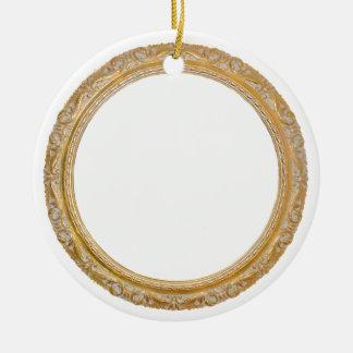 Old frame christmas ornament
