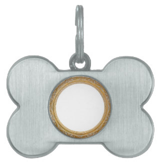 Old frame pet ID tag