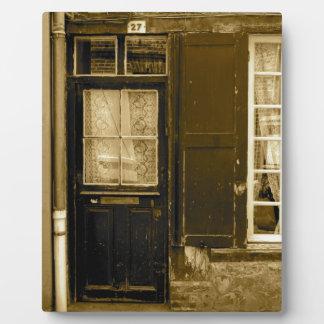 Old French Door Plaque