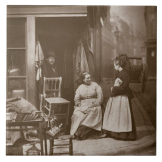 Old Furniture, from 'Street Life in London', 1877- Large Square Tile
