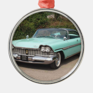 old fury baby blue classic car christmas ornament