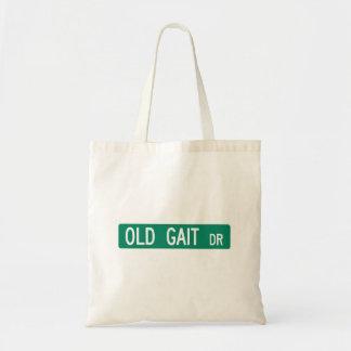 Old Gait Drive, Street Sign, North Carolina, US Budget Tote Bag