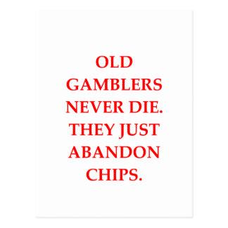 old gambler postcard