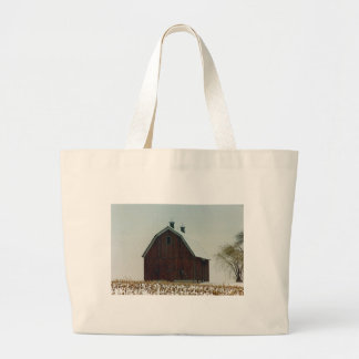 Old Gambrel Roof Barn on a Snowy Day Bag