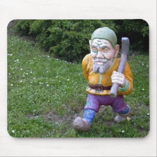 Old Garden Gnome Pitman Mouse Pad