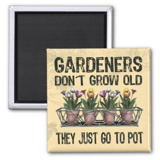 Old Gardeners Square Magnet