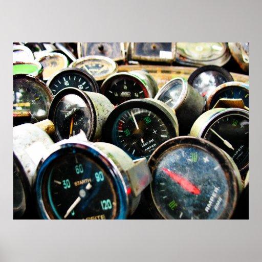 Old gauges print