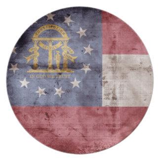 Old Georgia Flag; Party Plates
