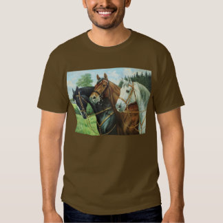 Old German Horse oil Painting portrait from 1924 Shirts