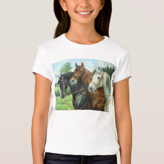 Old German Horse oil Painting portrait from 1924 Tshirt
