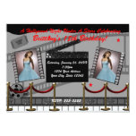 Old Glamour Hollywood Red Carpet Movie Invitation