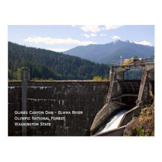 Old Glines Canyon Dam Postcard