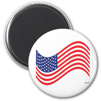 Old Glory 6 Cm Round Magnet
