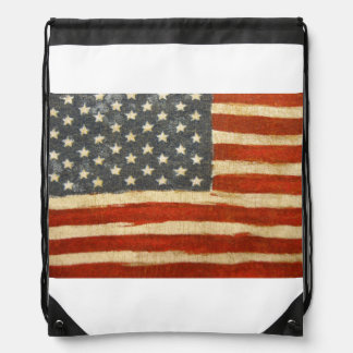 Old Glory American Flag Drawstring Bag
