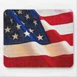 Old Glory American Flag Ripples Mousepad