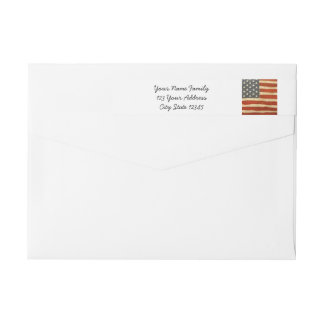 Old Glory American Flag Wrap Around Label