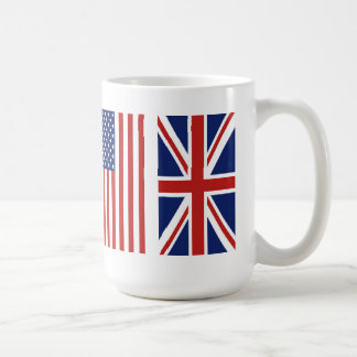 Old Glory and Union Jack Flags. Coffee Mug