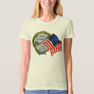 Old Glory Forever Vintage Flag T-Shirt