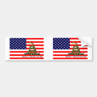 Old Glory Gadsden Flag Combo Bumper Stickers
