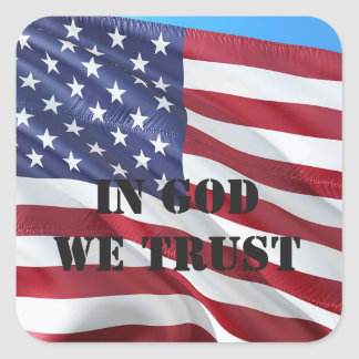 Old Glory In GOD We Trust USA Flag Patriot Sticker